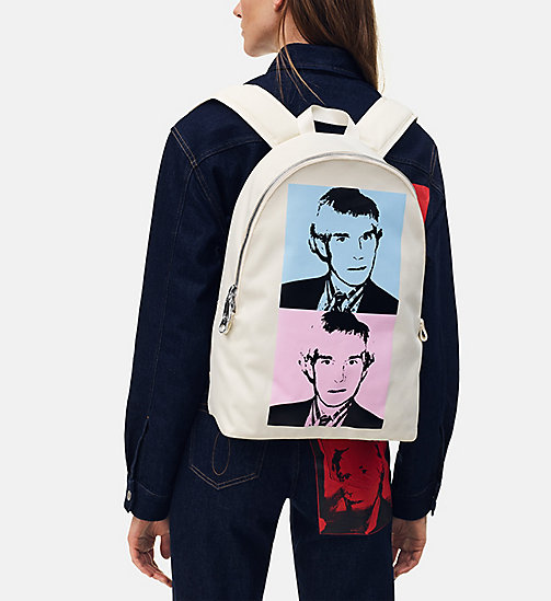 CALVIN KLEIN JEANS Warhol Portrait Campus Backpack - OFF WHITE POP - CALVIN KLEIN JEANS ANDY WARHOL - detail image 1