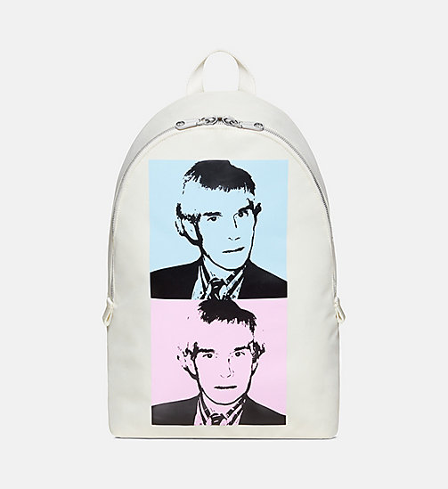CALVIN KLEIN JEANS Warhol Portrait Campus Backpack - OFF WHITE POP - CALVIN KLEIN JEANS BAGS - main image