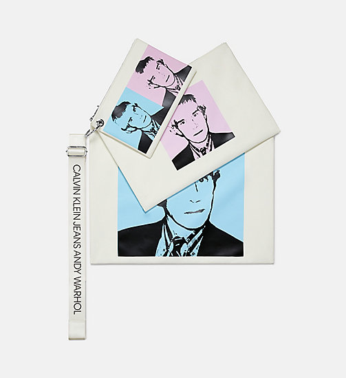 CALVIN KLEIN JEANS Warhol Portrait Pouch Set - OFF WHITE POP - CALVIN KLEIN JEANS MEN - main image