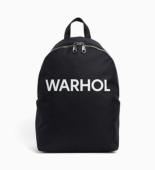 CALVIN KLEIN JEANS Andy Warhol Logo Backpack - BLACK - CALVIN KLEIN JEANS ANDY WARHOL - main image
