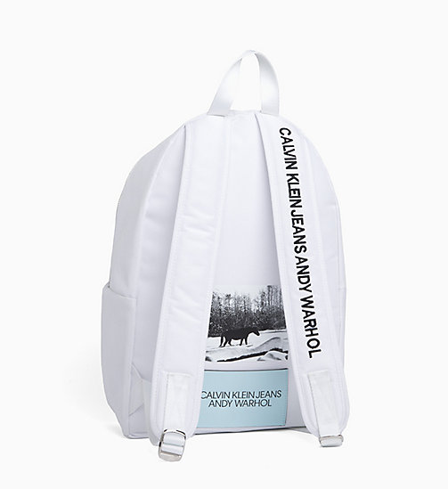 CALVIN KLEIN JEANS Andy Warhol Photo Art Backpack - BRIGHT WHITE - CALVIN KLEIN JEANS ANDY WARHOL - detail image 1