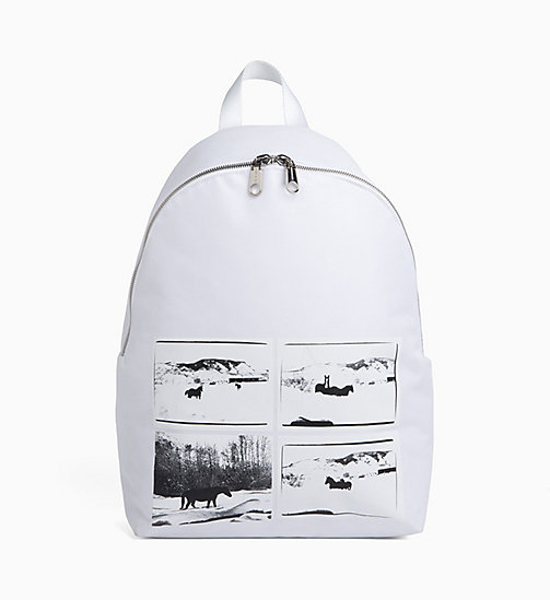 CALVIN KLEIN JEANS Andy Warhol Photo Art Backpack - BRIGHT WHITE - CALVIN KLEIN JEANS ANDY WARHOL - main image