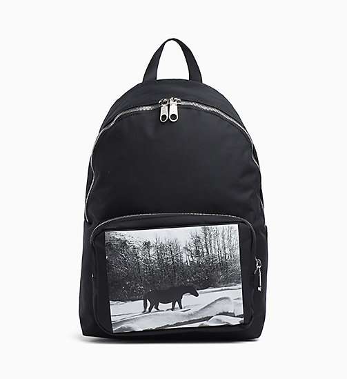 CALVIN KLEIN JEANS Andy Warhol Photo Art Backpack - BLACK - CALVIN KLEIN JEANS ANDY WARHOL - main image