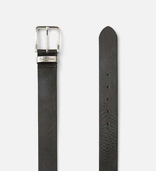 CALVIN KLEIN JEANS Leather Belt - BLACK - CALVIN KLEIN JEANS BELTS - detail image 1