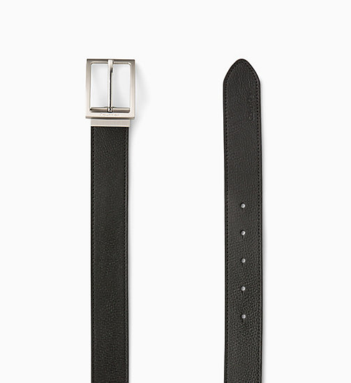 CALVIN KLEIN JEANS Leather Belt in Gift Box - BLACK - CALVIN KLEIN JEANS BELTS - detail image 1