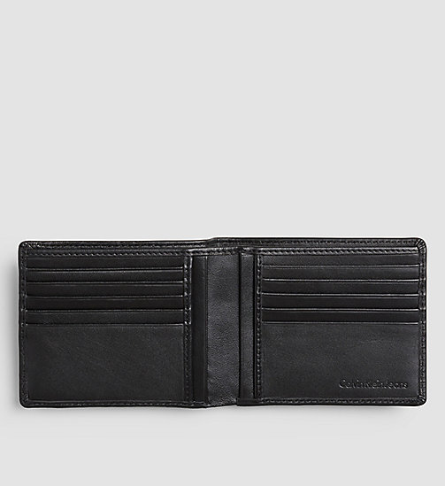 CALVIN KLEIN JEANS Leather Billfold Wallet - BLACK - CALVIN KLEIN JEANS WALLETS - detail image 1