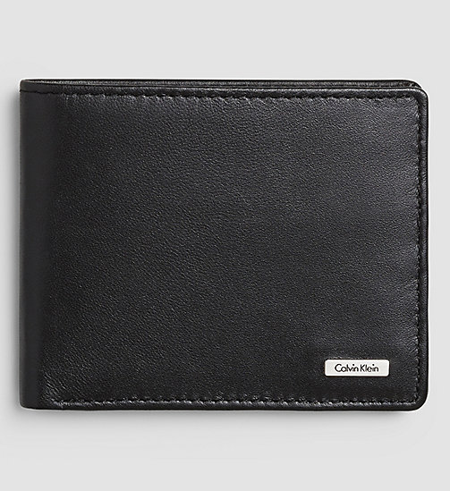 CALVIN KLEIN JEANS Leather Billfold Wallet - BLACK - CALVIN KLEIN JEANS WALLETS - main image