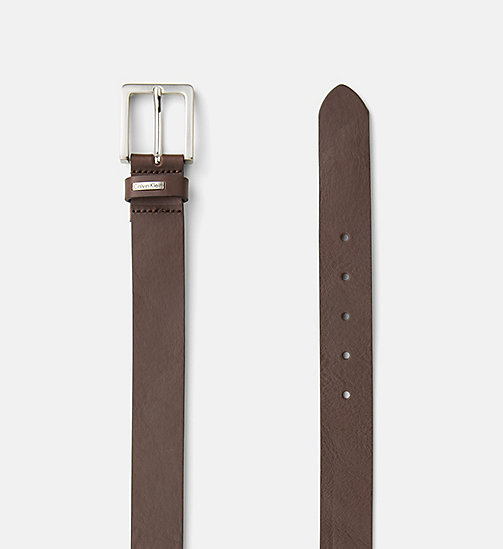 CALVIN KLEIN JEANS Leather Belt - BROWN - CALVIN KLEIN JEANS BELTS - detail image 1