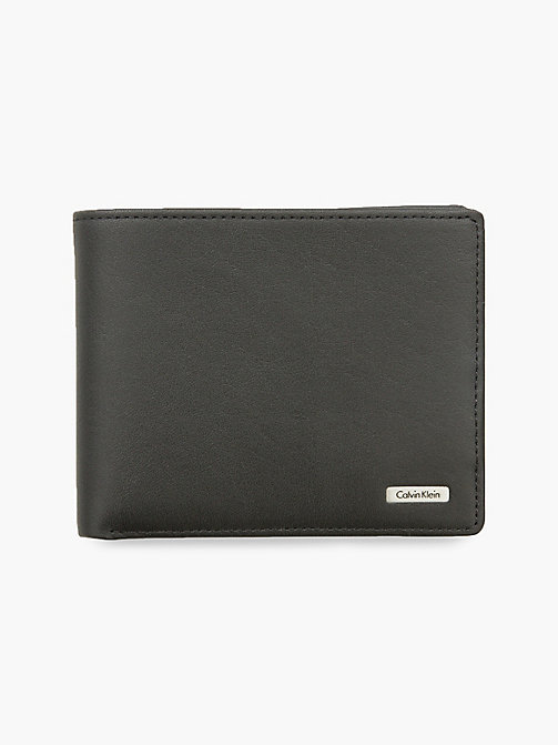 CALVIN KLEIN JEANS Leather Wallet - BLACK - CALVIN KLEIN JEANS WALLETS & SMALL ACCESSORIES - main image