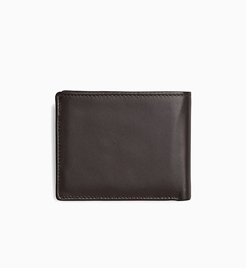 CALVIN KLEIN JEANS Leather Wallet - TURKISH COFFEE - CALVIN KLEIN JEANS WALLETS - detail image 1