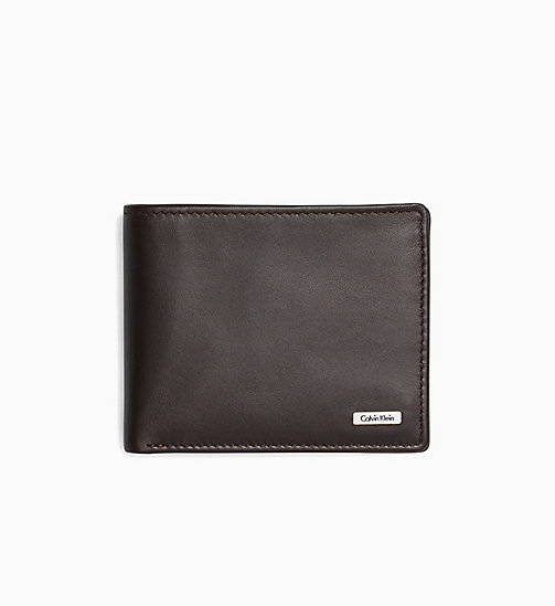CALVIN KLEIN JEANS Leather Wallet - TURKISH COFFEE - CALVIN KLEIN JEANS WALLETS - main image