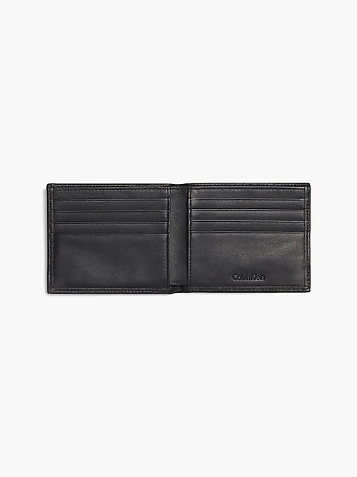CALVIN KLEIN Leather Slimfold Wallet - BLACK - CALVIN KLEIN FOR HIM - detail image 1