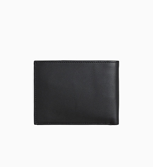 CALVINKLEIN Leather Wallet - BLACK - CALVIN KLEIN WALLETS - detail image 1