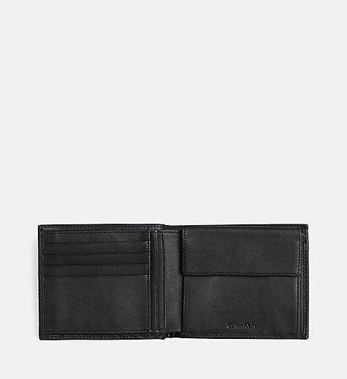 CALVIN KLEIN Leather Wallet - BLACK - CALVIN KLEIN GIFTS - detail image 1