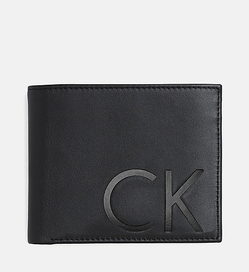 CALVIN KLEIN Leather Wallet - BLACK - CALVIN KLEIN GIFTS - main image