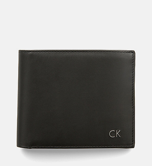 CALVINKLEIN Leather Wallet - BLACK -  WALLETS & SMALL ACCESSORIES - main image