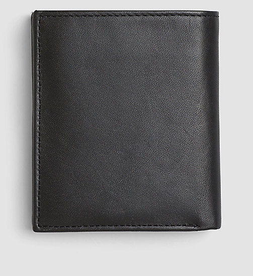 CALVINKLEIN Leather Mini Wallet - BLACK - CALVIN KLEIN WALLETS & SMALL ACCESSORIES - detail image 1