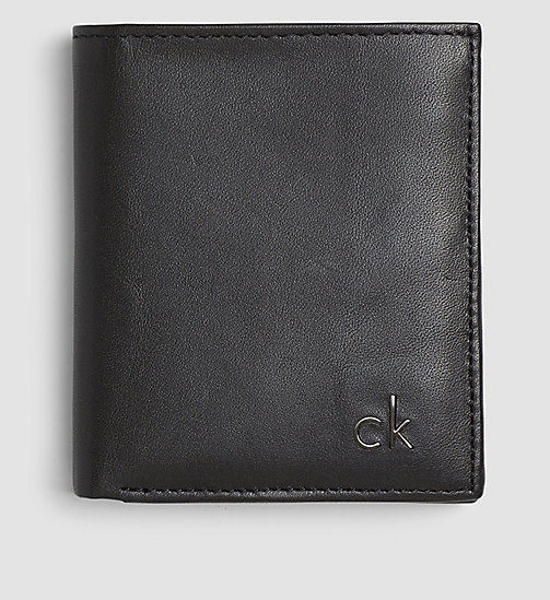 CALVINKLEIN Leather Mini Wallet - BLACK - CALVIN KLEIN WALLETS & SMALL ACCESSORIES - main image
