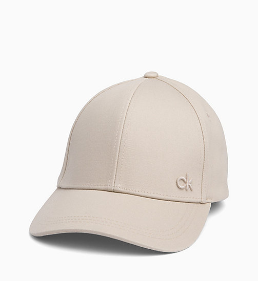 CALVIN KLEIN Cotton Twill Baseball Cap - CEMENT - CALVIN KLEIN HATS - detail image 1