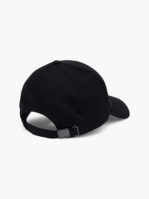 CALVINKLEIN Cotton Twill Baseball Cap - BLACK - CALVIN KLEIN MEN - detail image 1