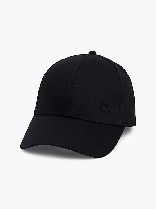 CALVIN KLEIN Cotton Twill Baseball Cap - BLACK - CALVIN KLEIN HATS - main image