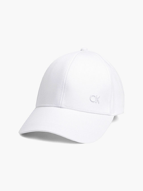 CALVIN KLEIN Cotton Twill Baseball Cap - WHITE - CALVIN KLEIN HATS - main image
