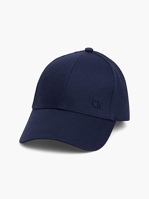 CALVIN KLEIN Cotton Twill Baseball Cap - NAVY - CALVIN KLEIN HATS - main image