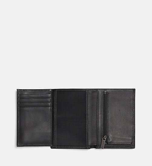 CALVIN KLEIN Embossed Leather Wallet - BLACK - CALVIN KLEIN FOR HIM - detail image 1