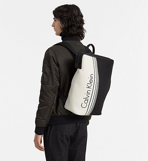 CALVINKLEIN Printed Backpack - BLACK/WHITE - CALVIN KLEIN SHOES & ACCESSORIES - detail image 1
