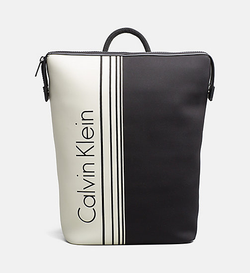 CALVINKLEIN Printed Backpack - BLACK/WHITE - CALVIN KLEIN SHOES & ACCESSORIES - main image
