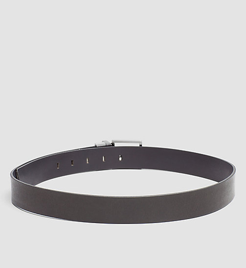 CALVINKLEIN Reversible Leather Belt - BLACK/BROWN - CALVIN KLEIN BELTS - detail image 1