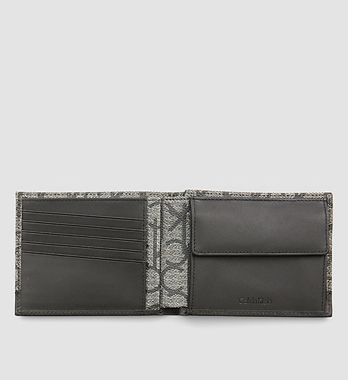 CALVINKLEIN Leather Logo Wallet - BLACK MONOGRAM -  WALLETS & SMALL ACCESSORIES - detail image 1