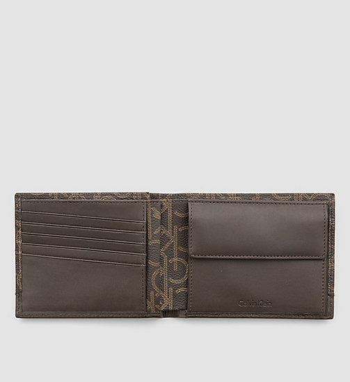 CALVINKLEIN Leather Logo Wallet - BROWN MONOGRAM - CALVIN KLEIN WALLETS - detail image 1