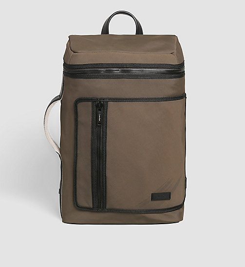 CALVINKLEIN Side Handle Backpack - BLACK OLIVE - CALVIN KLEIN BAGS & ACCESSORIES - main image