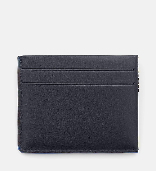 CALVINKLEIN Leather Cardholder - BLUE NIGHT - CALVIN KLEIN SHOES & ACCESSORIES - detail image 1