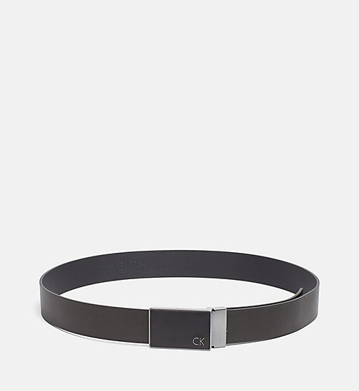 CALVINKLEIN Two Buckle Leather Belt Gift Set - BLACK - CALVIN KLEIN BELTS - main image