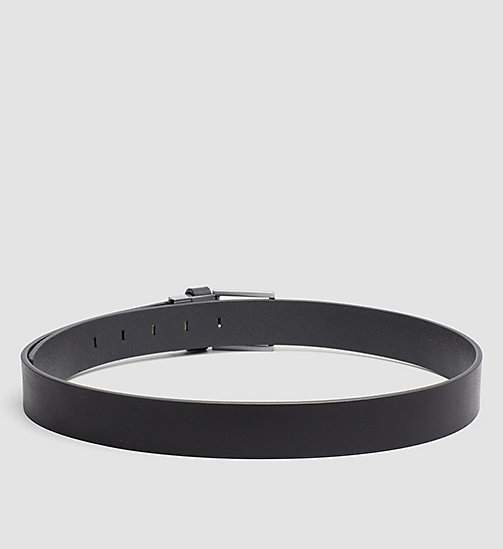 CALVINKLEIN Two Buckle Leather Belt Gift Set - BLACK - CALVIN KLEIN BELTS - detail image 1