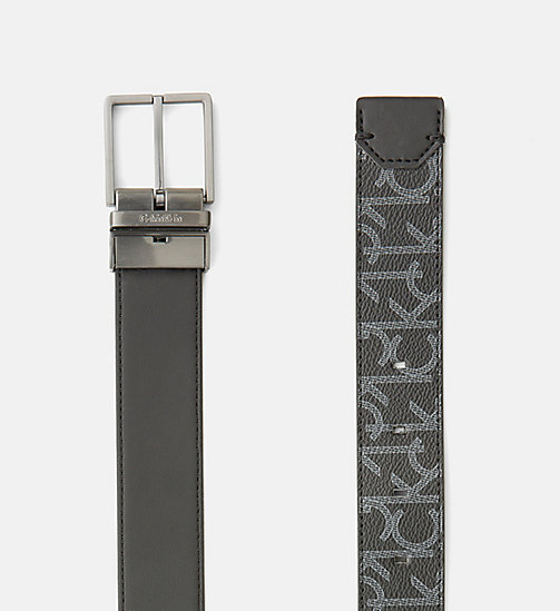 CALVINKLEIN Reversible Logo Belt - BLACK - CALVIN KLEIN BAGS & ACCESSORIES - detail image 1