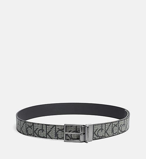 CALVINKLEIN Reversible Logo Belt - GRANITE MONOGRAM - CALVIN KLEIN BELTS - main image