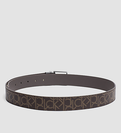 CALVINKLEIN Reversible Logo Belt - BROWN MONOGRAM - CALVIN KLEIN SHOES & ACCESSORIES - detail image 1