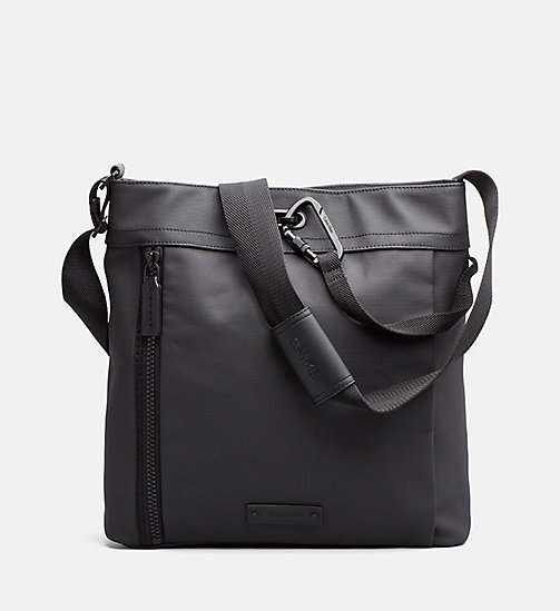 CALVINKLEIN Coated Canvas Carry-All Bag - BLACK - CALVIN KLEIN SHOES & ACCESSORIES - main image
