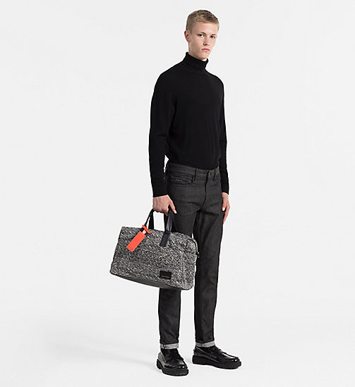 CALVINKLEIN Medium Jacquard Duffle Bag - BLACK/DUSTY IVORY - CALVIN KLEIN SHOES & ACCESSORIES - detail image 1