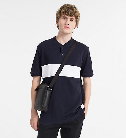 CALVINKLEIN Leather Mini Reporter Bag - BLACK - CALVIN KLEIN MODERN MENSWEAR - detail image 1
