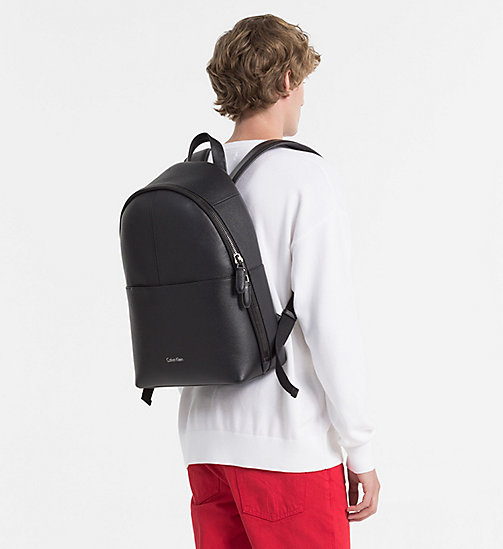 CALVINKLEIN Leather Round Backpack - BLACK - CALVIN KLEIN BACK IN BUSINESS - detail image 1