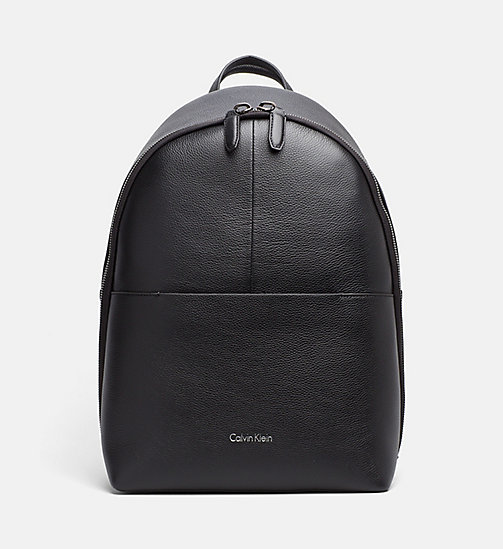 CALVINKLEIN Leather Round Backpack - BLACK - CALVIN KLEIN BACK IN BUSINESS - main image