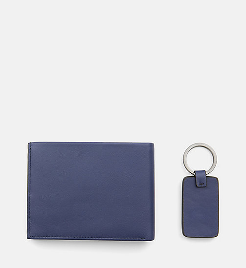CALVINKLEIN Leather Wallet and Keyring Gift Box - NAVY -  WALLETS & SMALL ACCESSORIES - detail image 1