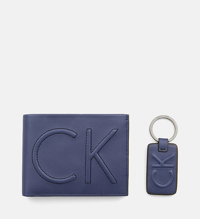 CALVINKLEIN Leather Wallet and Keyring Gift Box - BLACK - CALVIN KLEIN MEN - detail image 2