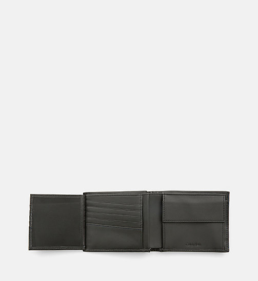 CALVINKLEIN Leather Trifold Wallet - BLACK - CALVIN KLEIN WALLETS - detail image 1