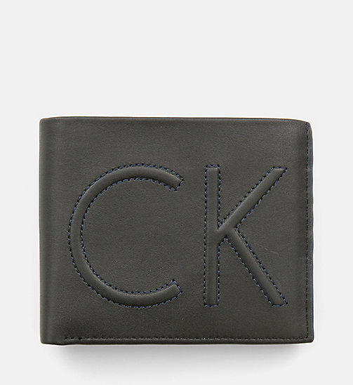 CALVINKLEIN Leather Trifold Wallet - BLACK - CALVIN KLEIN WALLETS & SMALL ACCESSORIES - main image