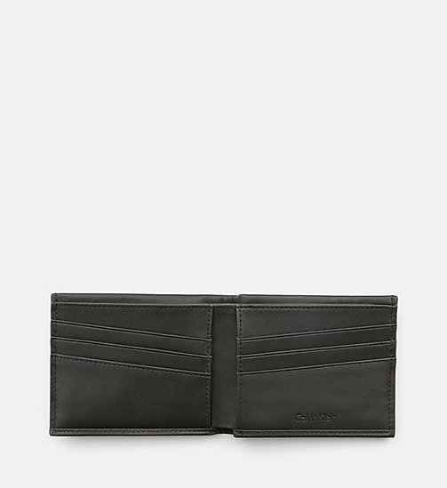 CALVINKLEIN Leather Slimfold Wallet - BLACK - CALVIN KLEIN BAGS & ACCESSORIES - detail image 1
